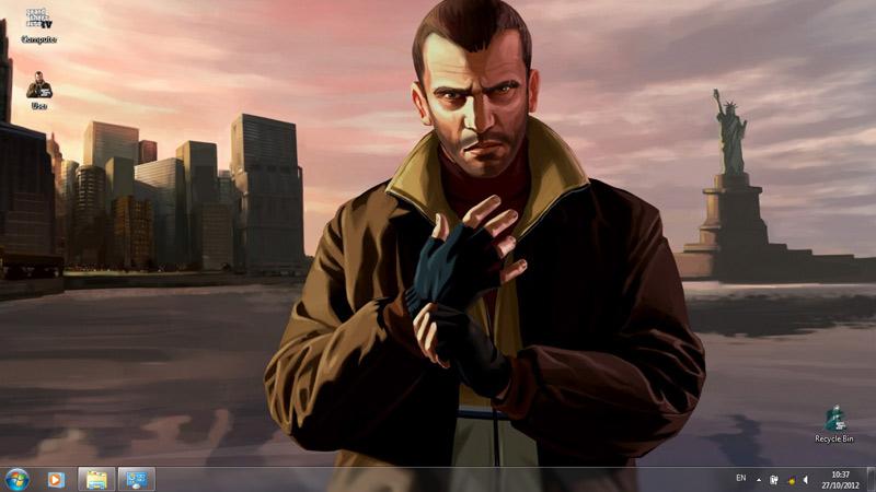 Тема Grand Theft Auto (GTA)
