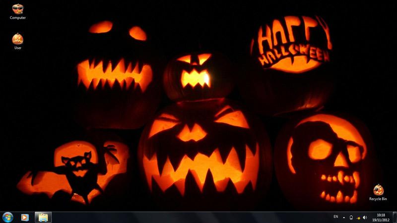 Тема Halloweens