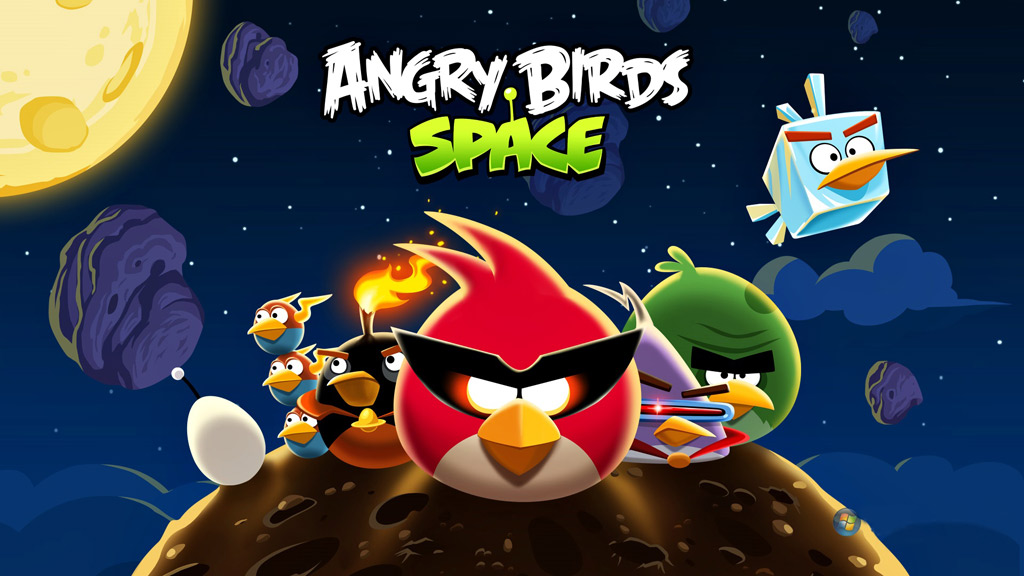 Тема Angry Birds Space