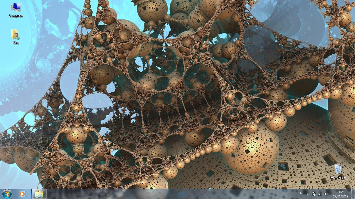 Тема Futuristic Fractals