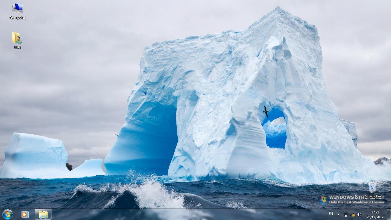Тема Icebergs